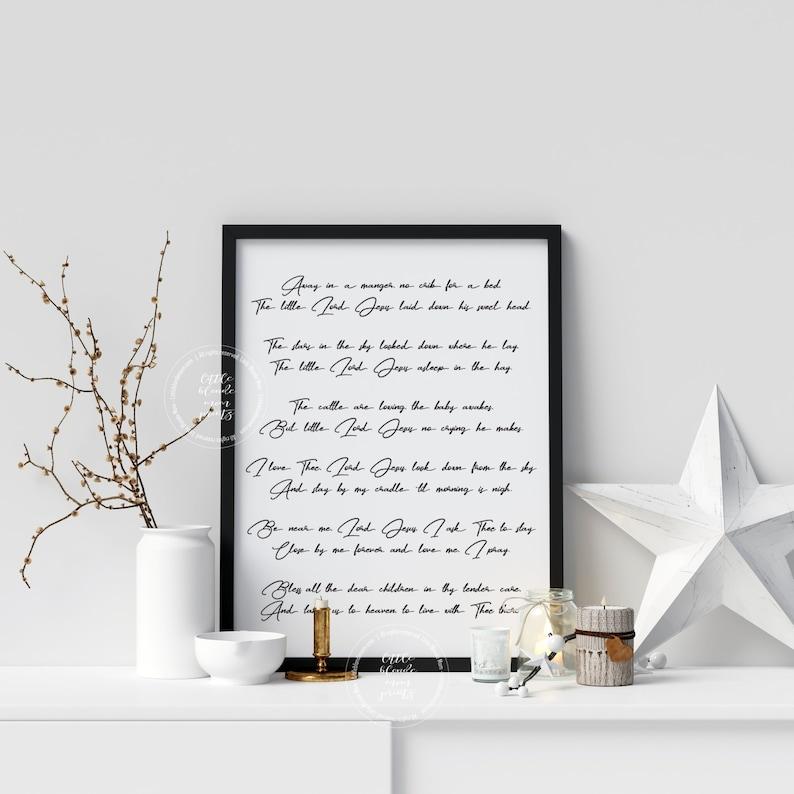 photo regarding Lyrics to Away in a Manger Printable named Absent inside of the Manger Xmas Music Printable Xmas Tune Decor  Wonderful Xmas Tune Lyrics 8x10 11x14 Portrait