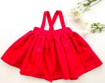 Suspender Skirt - Red