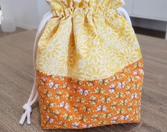 Knitting Project Bag, Sock Knitting Project Bag, Crochet Project Bag, Project Bag
