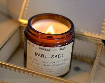Candle Wabi - Sabi NO.4: pink powder