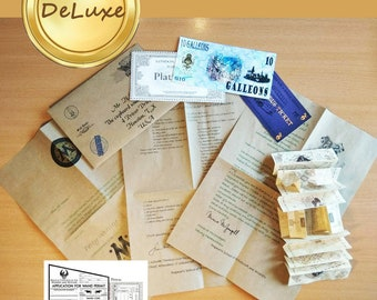 Deluxe First Year personalized acceptance letter Not aff with TM harry potter acceptance letter set for Whichcraft and Wizardry school