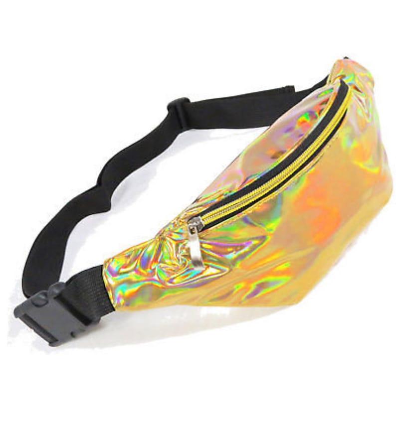 HolographicIridescent Fanny Pack Bum Bag Waist Bag Silver