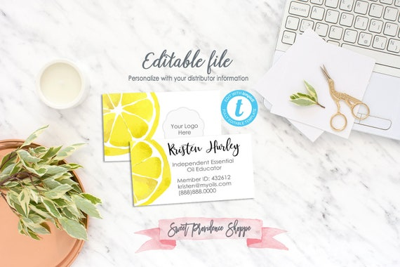 Business Card Template Editable Business Card Essential Oil Etsy