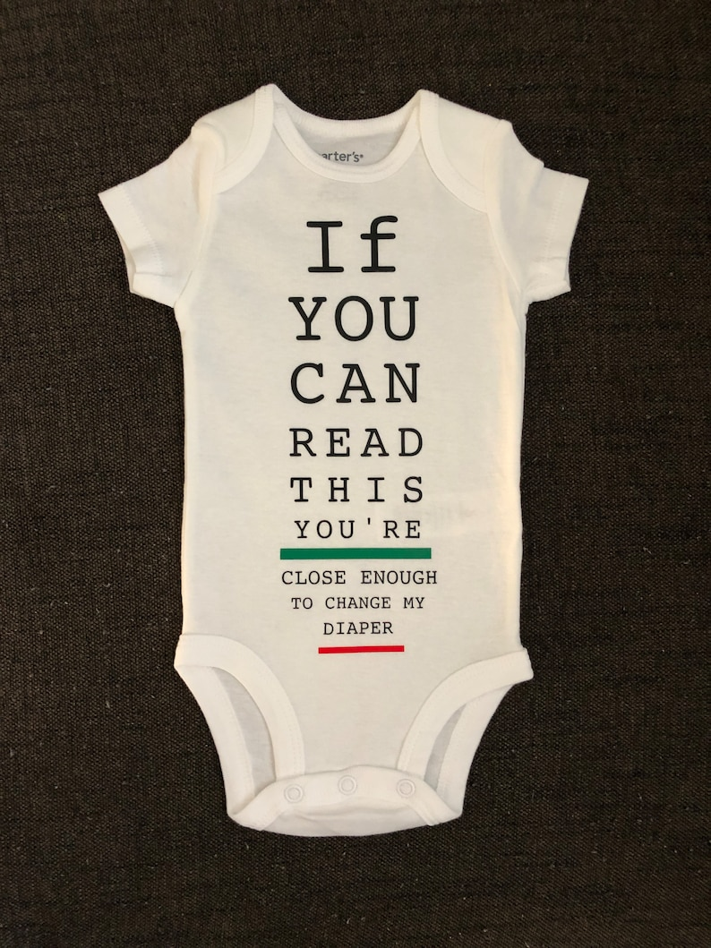 bf48e0ab6a Cute Baby Clothes Funny Baby Bodysuit If You Can Read This | Etsy