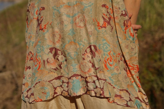 Authentic vintage 1920s Japanese hand printed top… - image 8