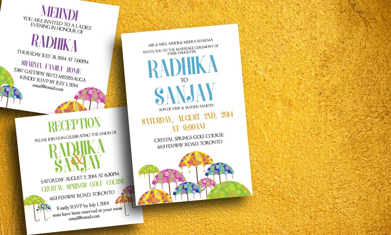 Indian Wedding Invitation Indian Wedding Card Baraat Etsy