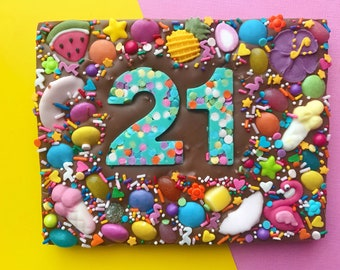birthday chocolate bar birthday chocolate slab number chocolate
