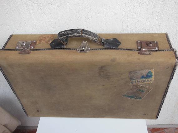Vintage Suitcase , Tarpaulin Suitcase , Luggage ,