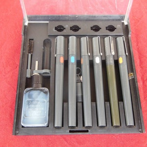Rapitographers Pens for architectural German technical pens for 80s Vintage Markers Technical pens machine and technical drawings