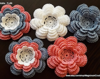 2c02d9524e36a Crocheted flowers | Etsy