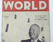 Old VTG Original Radio World Magazine October 1935 12 Tube Superheterodyne
