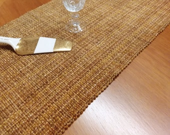 Butterscotch table runners - Eco-friendly, handwoven, machine washable, dryable, preshrunk, cotton, viscose
