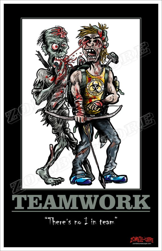 TEAMWORK - There's no I in team, Motivational Poster