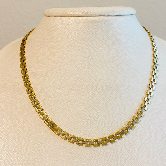 PANTHER CHAIN Solid 14k Yellow White Gold Classy.