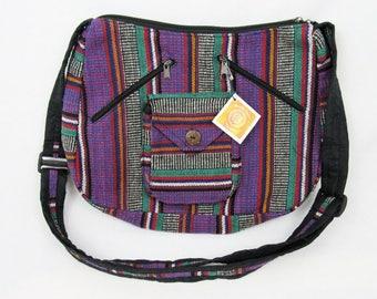 Boho hippie handmade small tribal purse bag