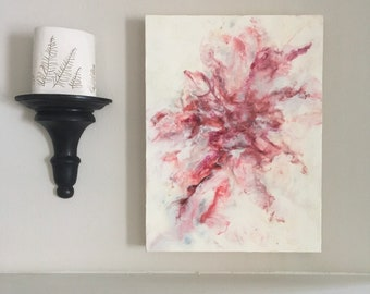 Effervescent.  Stylized floral abstract.  Contemporary art.  Modern look.