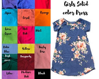 2a28da1ca Girls Solid Color Dress- Mommy and Me Dress- Toddler Dress