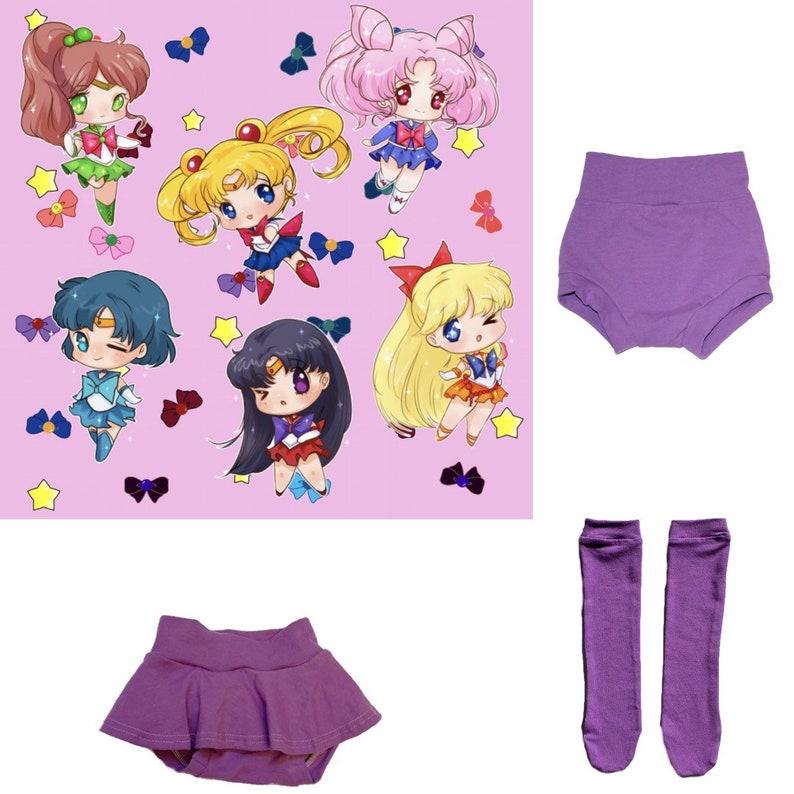7f98952a6 Sailor Moon skirted bummies high waisted bummies baby