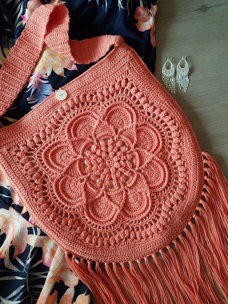CROCHET PATTERN  Crochet bag pattern motif textured image 0