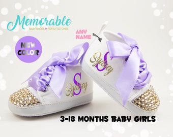 Purple baby shoes | Etsy