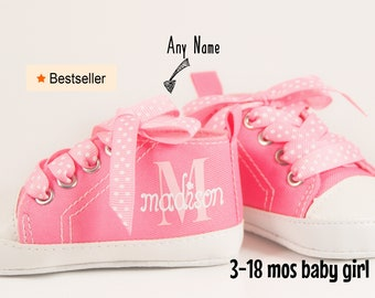 Pink Baby Girl Shoes, Personalize baby gift, Baby Girl, Baby Shoes Girl,Personalized Baby Shoes,Infant Shoes,Infant Girl Shoe,Pink High Tops