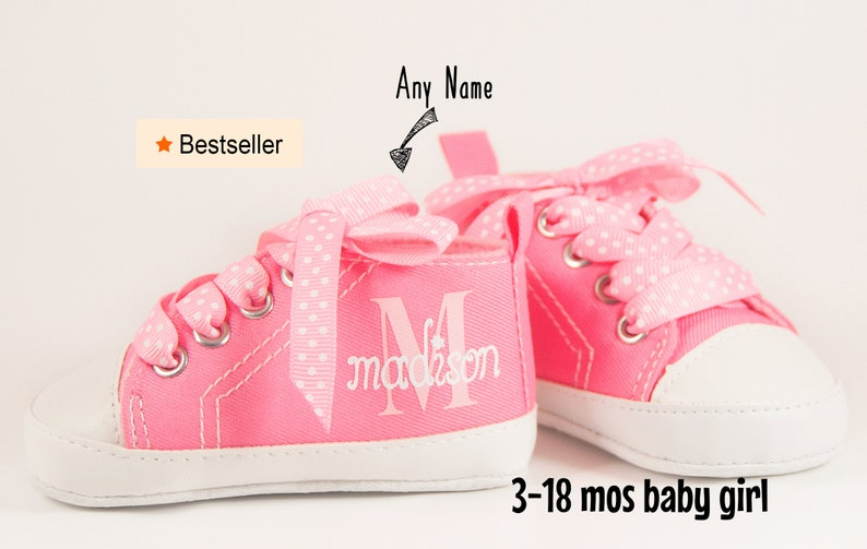 45e13a7149c4c Baby Girl Shoes, Personalize baby gift, Baby Girl, Baby Shoes  Girl,Personalized Baby Shoes,Infant Shoes,Infant Girl Shoe,Pink High Tops