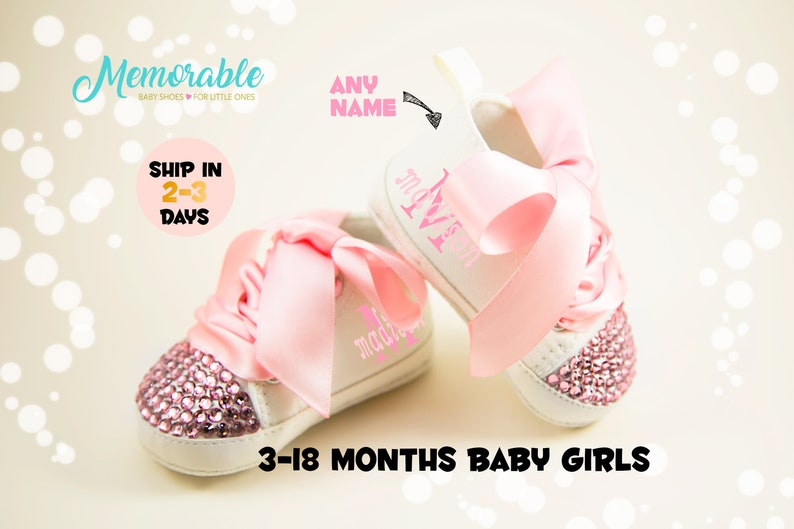 b6e396fc352e BABY BLING SHOES Personalized Baby Shoes Baby Shoes for
