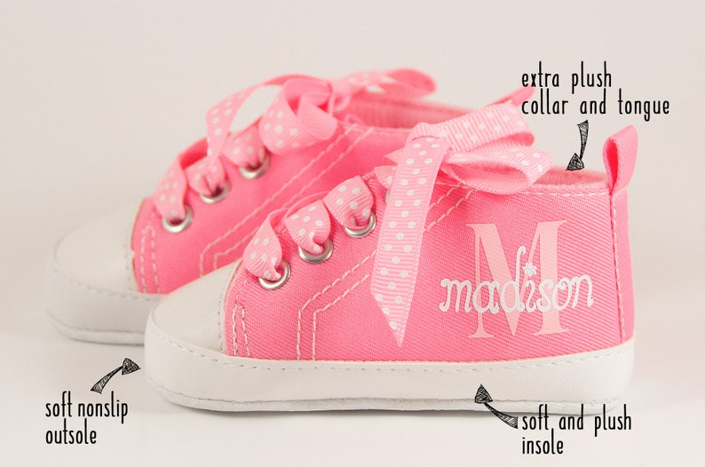 05c5f15e089b Baby Girl Sneakers baby shower gift first birthday outfit