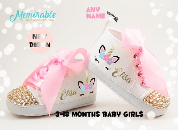 Unicorn Baby Girl Shoes Baby Bling