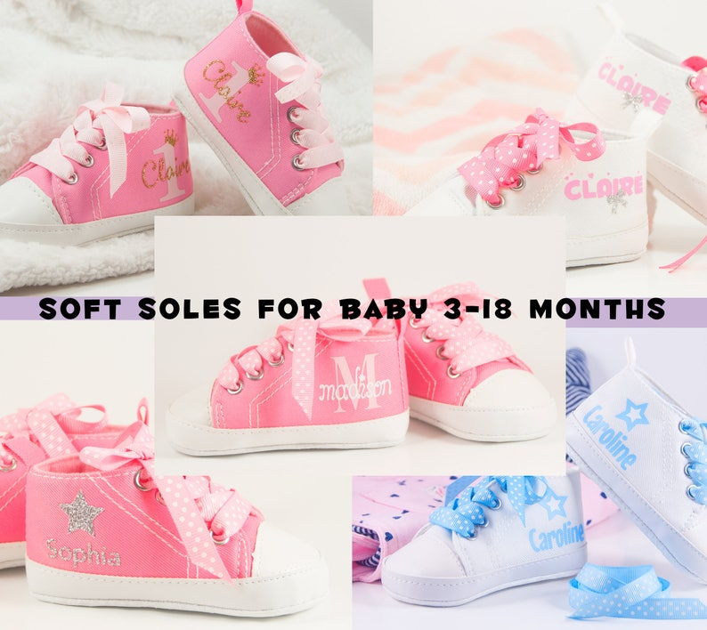 fe3786e39e1d3 Baby Girl Shoes Baby Gifts Personalized Baby Girl Shoes   Etsy