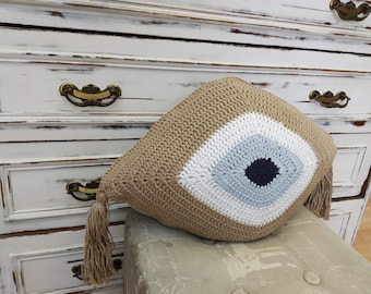 Evil eye pillow | Etsy