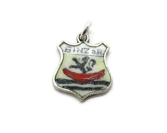 Sterling Silver Newfoundland Canada Travel Shield  charm vintage # 4084