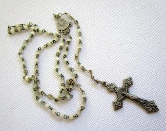 Cathedral Art CS123 Confirmation Pearl Rosary with Keepsake Box Gift Set