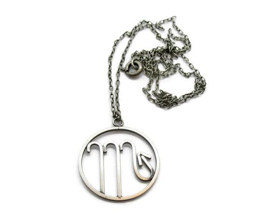 Vintage Scorpio pendant, sterling silver Scorpio s