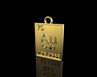 Au periodic table etsy pendant gold element pendant au element pendant periodic table necklace gold necklace gold element necklace periodic table gold jewel urtaz Choice Image