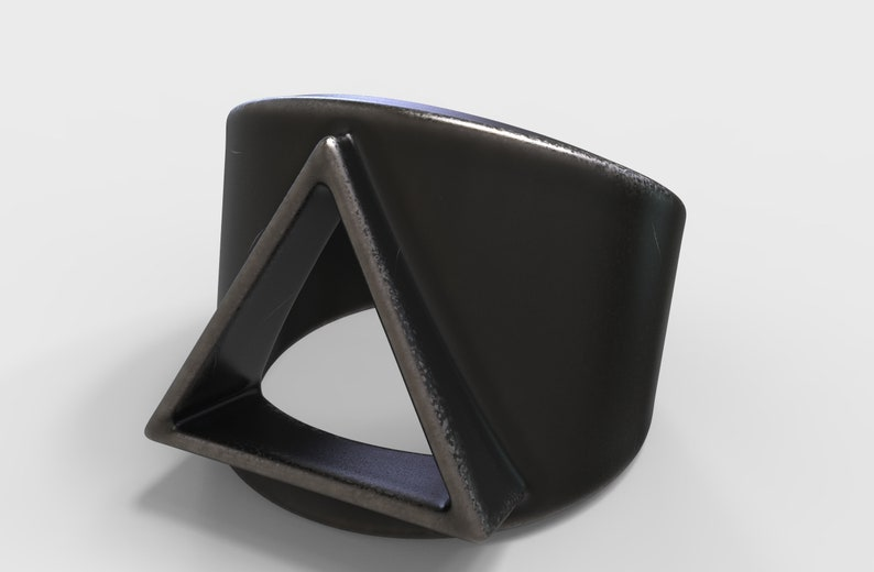 Triangle Ring Gift for Him Oxidized Silver Ring Men/'s Aged Silver Ring Geometric Ring,Geometric Jewelry,Father/'s Day Gift Men/'s Jewelry
