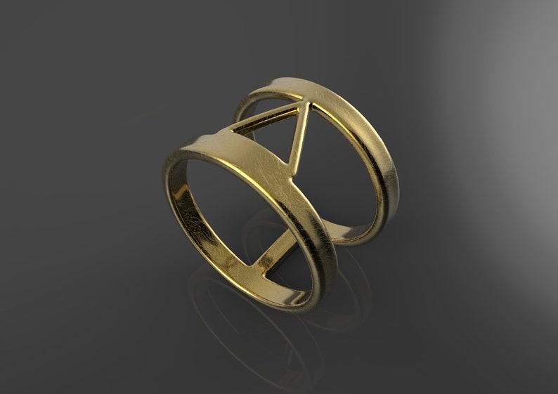 Women/'s Gold Ring Men/'s Unique Silver Ring Men/'s Silver Ring Men/'s Jewelry Unique Triangle Ring Gold Triangle Ring Gold Triangle Ring