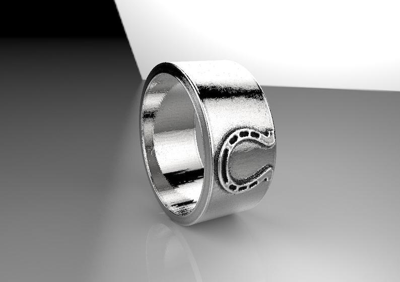Silver Band Ring Gold Band Ring Men/'s Ring Lucky Ring Unisex Band Ring Horseshoe Band Ring Horseshoe Ring Lucky Horseshoe Ring