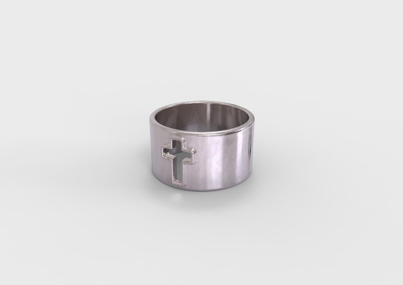 Cross Jewelry Wide Band Cross Ring Unisex Band Ring Gift for Her Steampunk Ring Gold Cross Ring Gift for Him Steampunk Jewelry