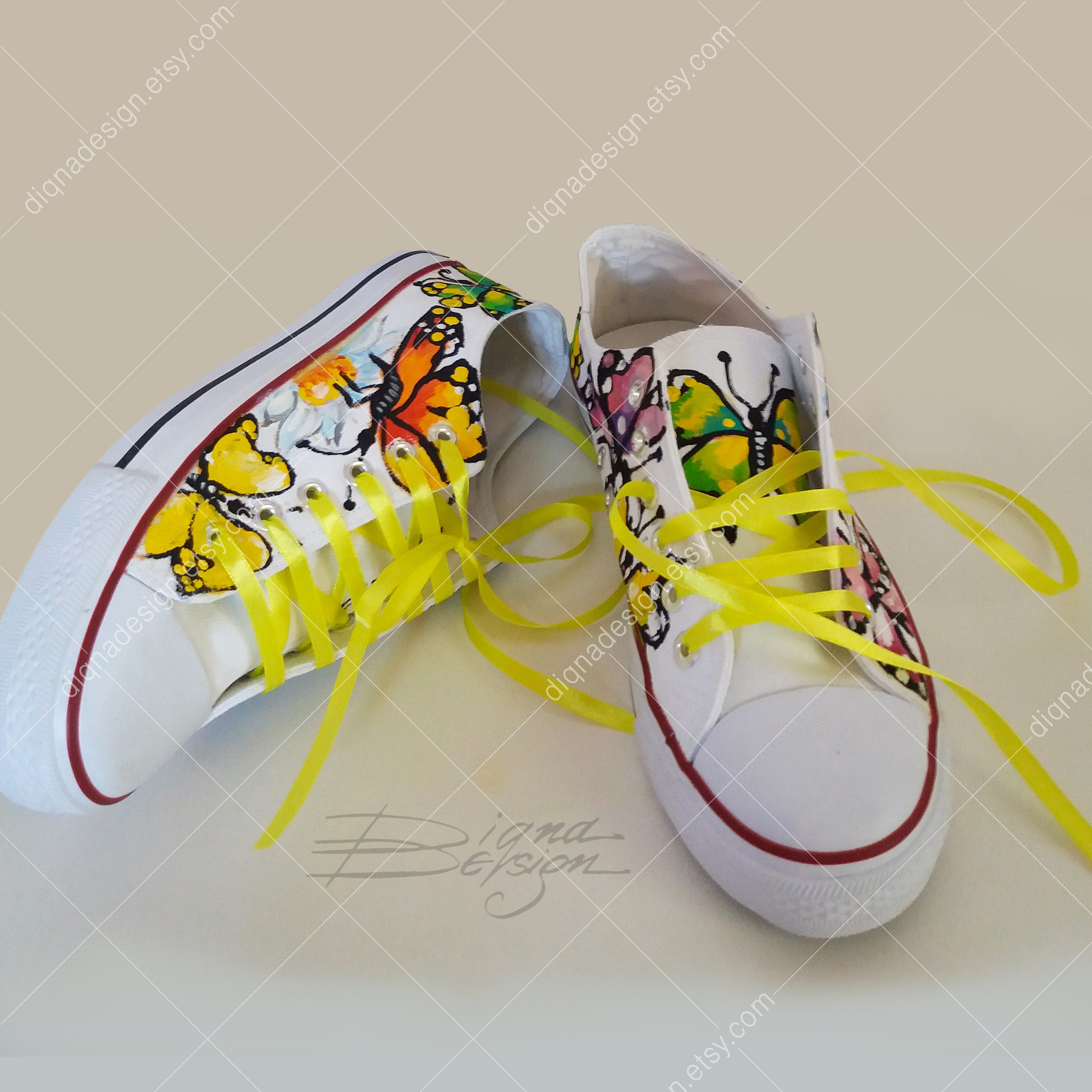 75b7f9b386d1 Butterfly Sneakers Hadpainted Shoes Butterflies Shoes Hand