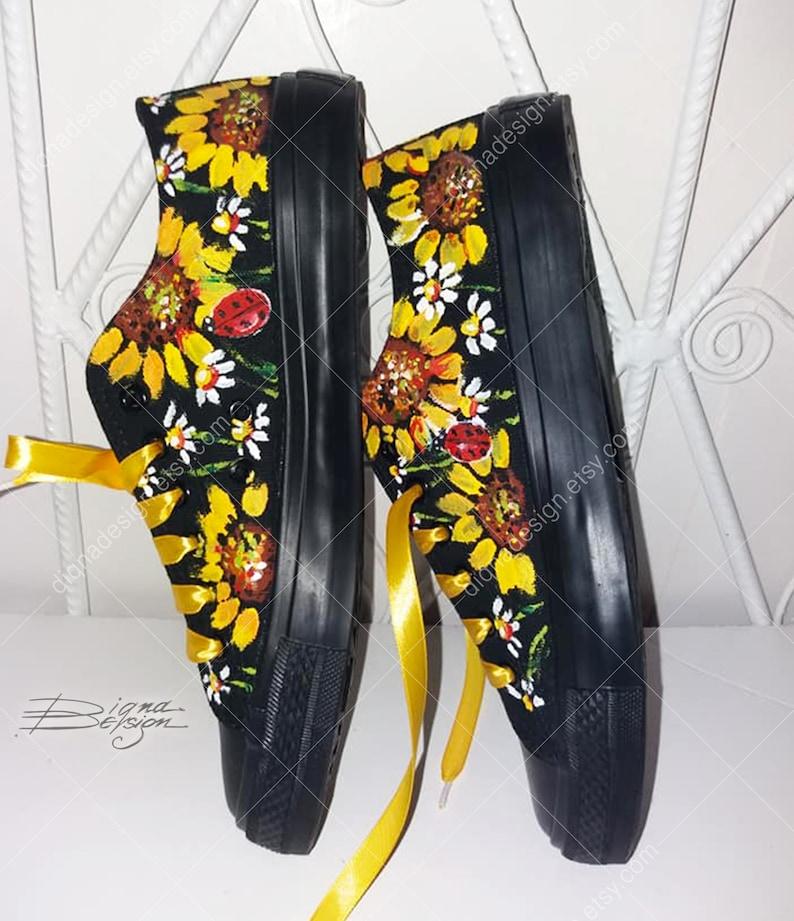 Verniciato Sneakers girasoli e margherite scarpe Daisy EvFBz8XL