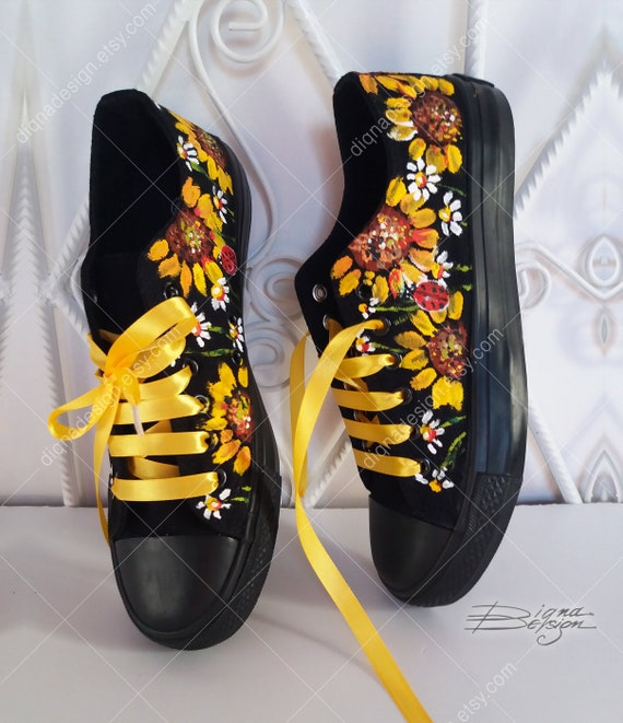 Sunflowers Sneakers Sunflowers Shoes