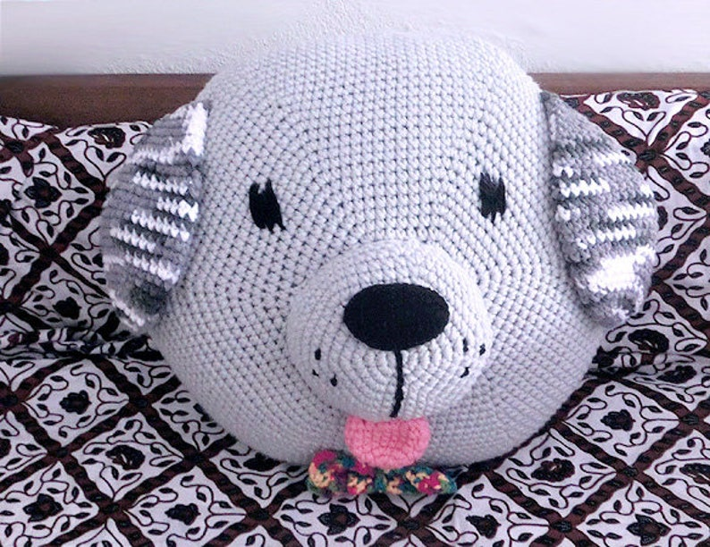Crochet Dog Pillow Pattern crochet Cushion Amigurumi  PDF image 0