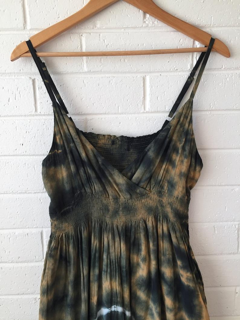 Layering Dress Hippie Bohemian 90s Tie-Dye Maxi Dress Gypsy Maxi Dress Boho Grunge Hippy Large Extra Large