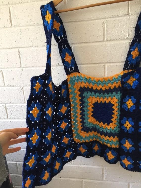 Crochet Vest | Granny Square | Retro | Patchwork |