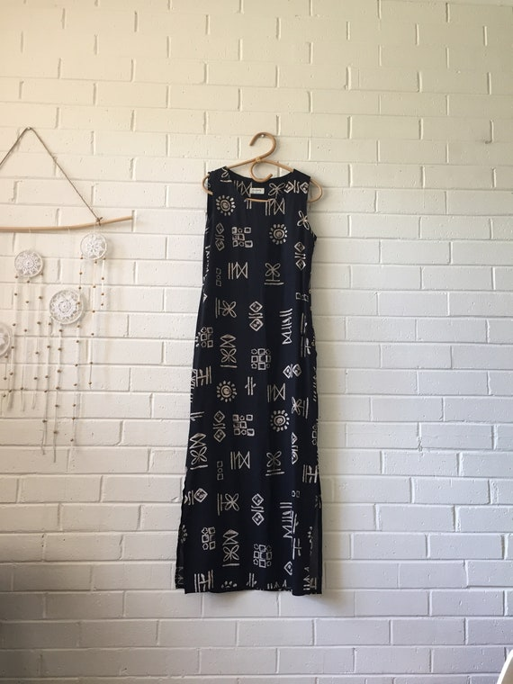90s Boho Grunge Maxi Dress | Bohemian Maxi Dress |