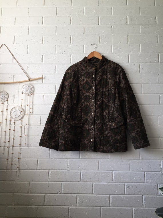 80s Paisley Quilted Jacket | Boho | Hippie | Hippy