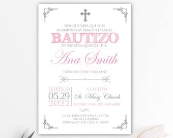 Invitaciones Para Bautizo Niñaimprimible Para Invitación De