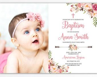 baptism invitation etsy
