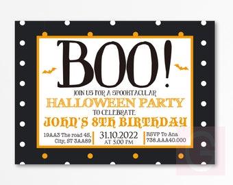 halloween birthday invitation halloween invitation for kids etsy